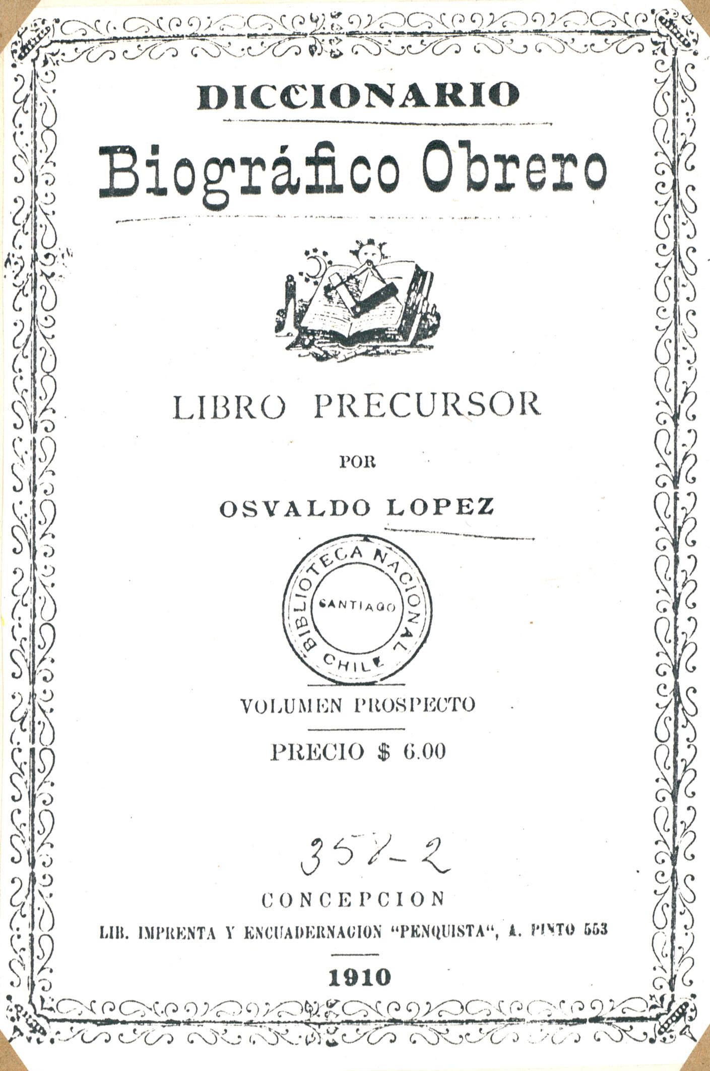 Diccionario Chile 1910